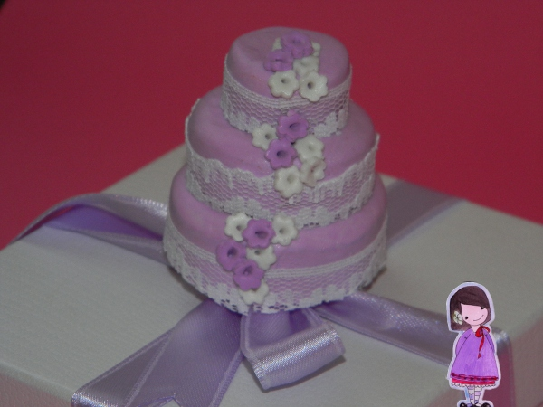 tutorial mini wedding cake fimo bomboniera segnaposto