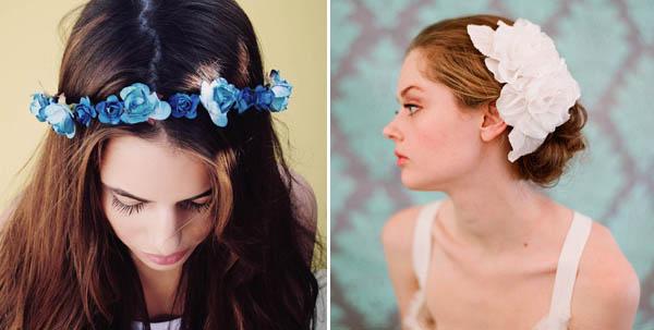 fiori come alternativa al velo da sposa