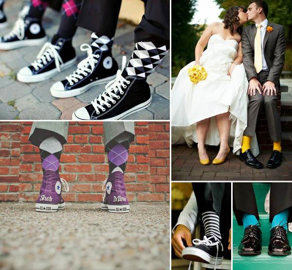 accessori per lo sposo: calze e scarpe