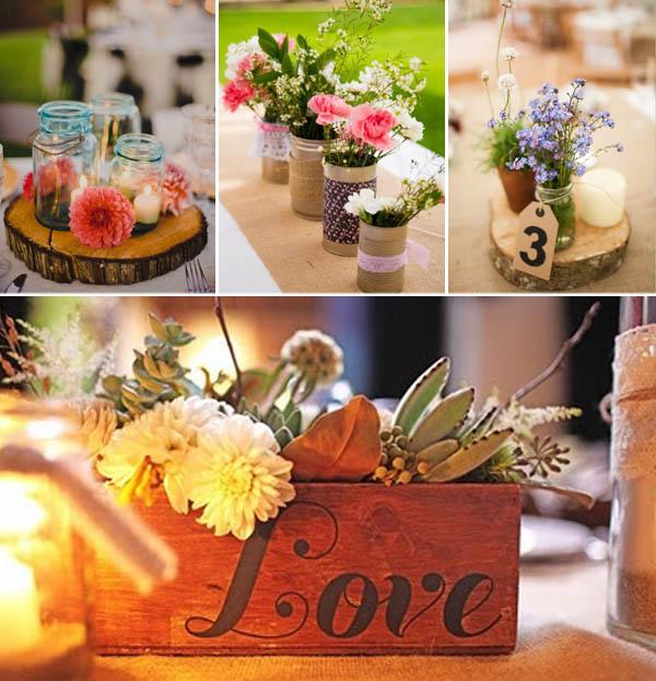 Matrimonio Rustico Centrotavola : Centrotavola che adorerete
