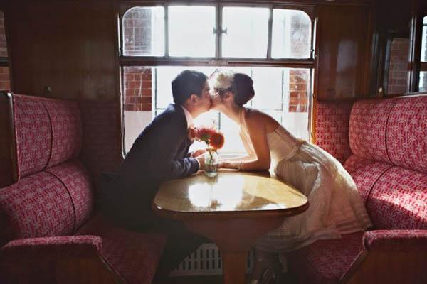matrimonio in un museo ferroviario