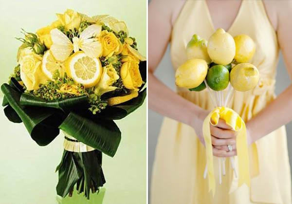 bouquet da sposa con limoni