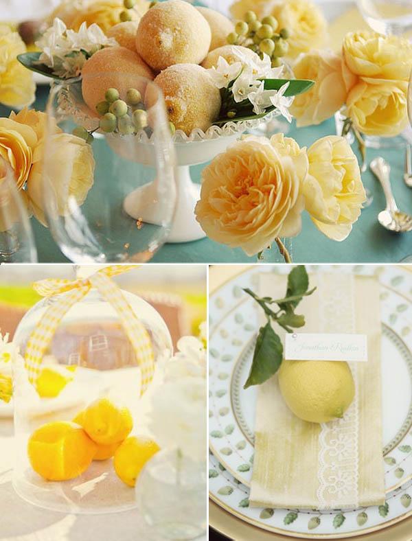 Centrotavola Matrimonio Tema Dolci : Matrimonio a tema limoni