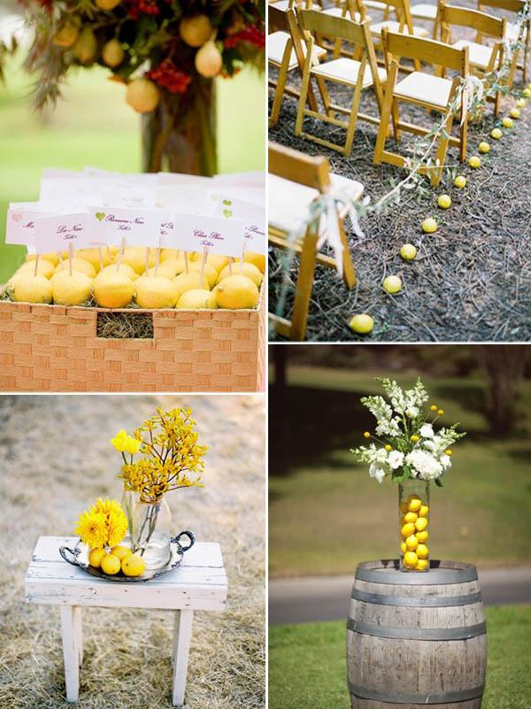decorazioni matrimonio con limoni