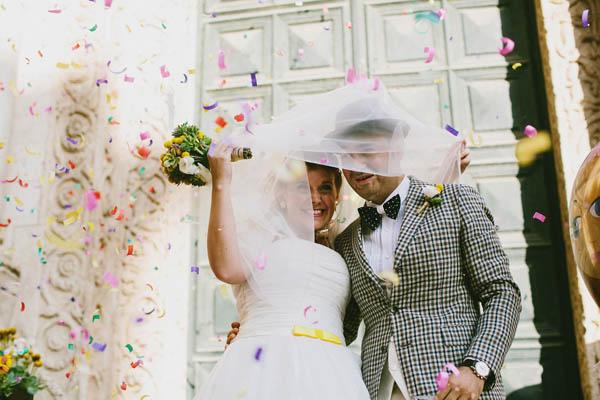 Un matrimonio in giallo e pois