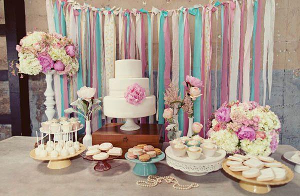 alternative alla torta nuziale: dessert table