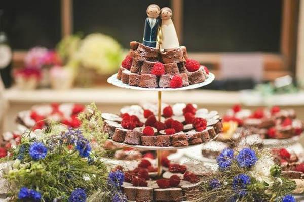alternative alla torta nuziale: brownies