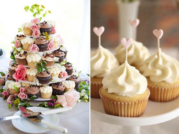 alternative alla torta nuziale: cupcakes