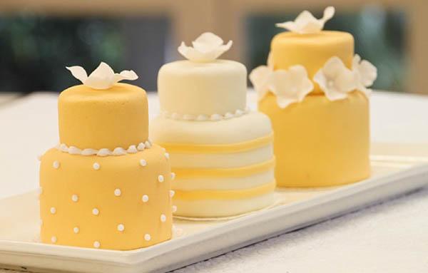 alternative alla torta nuziale: mini wedding cakes