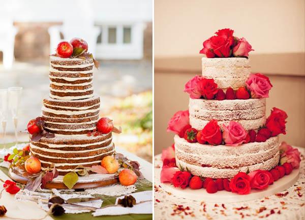 alternative alla torta nuziale: torte nude