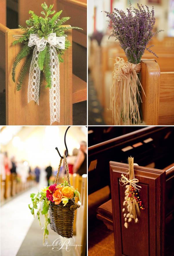 Matrimonio Country Chic Chiesa : Decorazioni per la chiesa