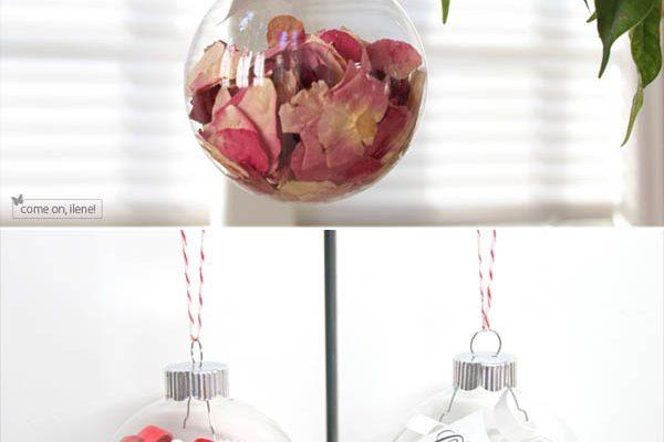 {Idee da copiare} Ornamenti natalizi con i ricordi del matrimonio