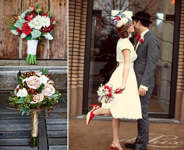 matrimonio natalizio bouquet