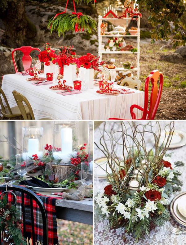 matrimonio natalizio tavola