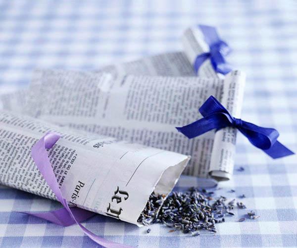 bustine porta riso fai da te con fogli di giornale