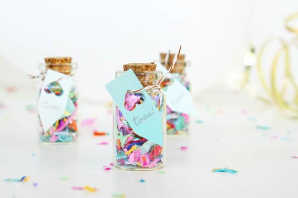 bottigliette di vetro porta riso o coriandoli