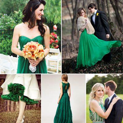 {Wedding by color} Matrimonio verde smeraldo
