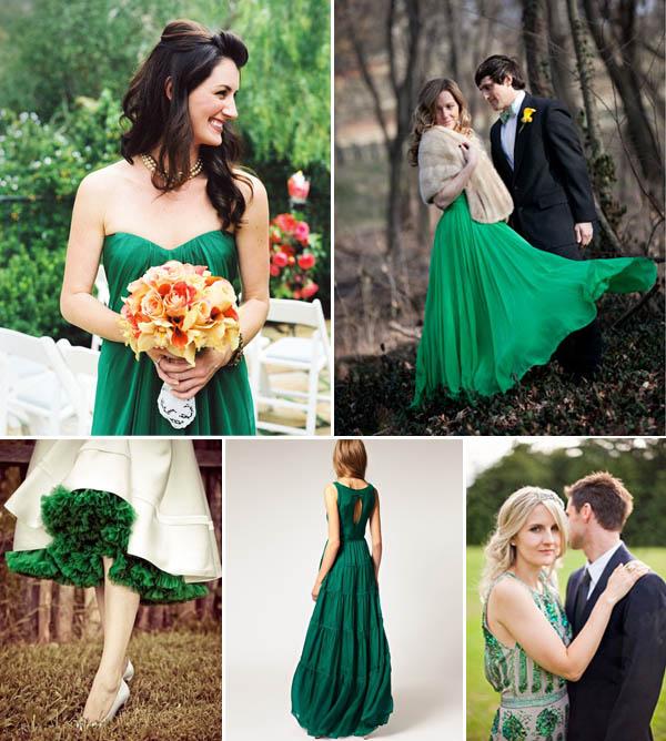 matrimonio verde smeraldo abiti da sposa