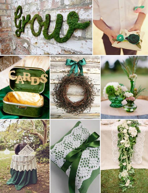 matrimonio verde smeraldo decorazioni