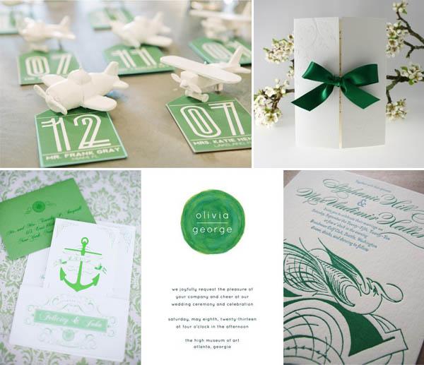 matrimonio verde smeraldo grafica