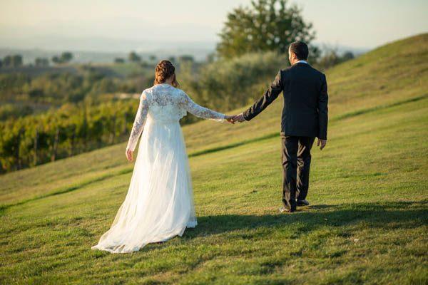 Un matrimonio autunnale in vigna: Marta e Gennaro