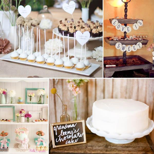 Idee per dessert table confettata e candy buffet - Confettata matrimonio a casa ...