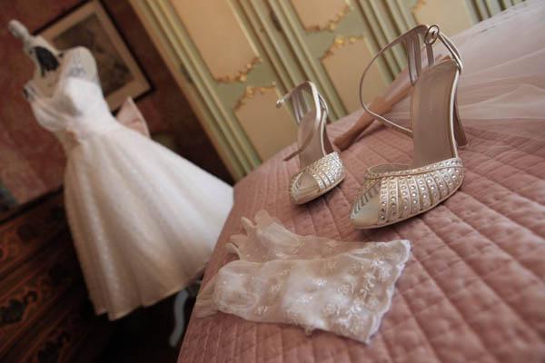 Un matrimonio anni  50 e un abito da sposa a pois  Caterina e ... 3d7ac909fe9