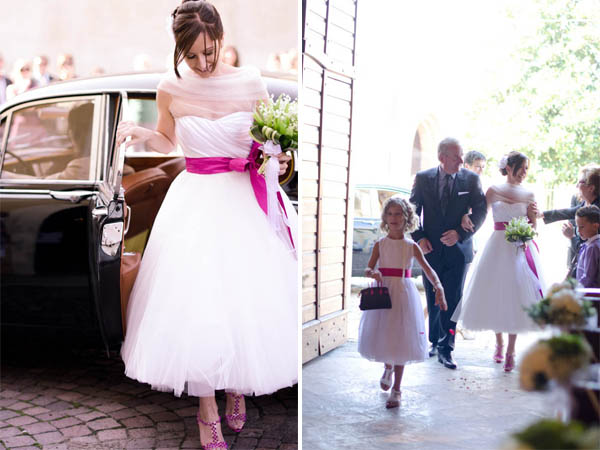 Matrimonio Tema Moderno : Un matrimonio fucsia tra shabby e moderno sara dario