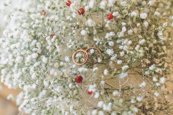 bouquet matrimonio invernale