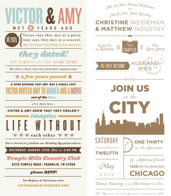 wedding obsessions inviti infografica
