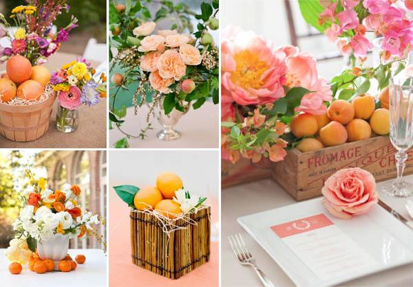 Matrimonio Tema Frutta : Decorazioni con frutta per il matrimonio
