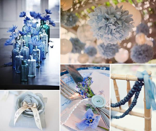 decorazioni matrimonio blu
