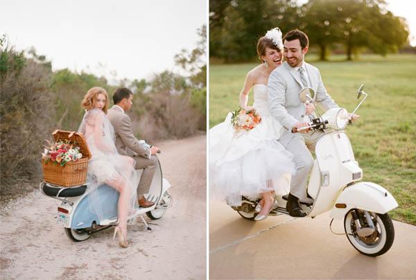 Matrimonio Tema Moto : Alternative all auto per le nozze