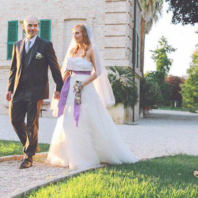 Un matrimonio lilla a tema ulivo: Elisa e Filippo