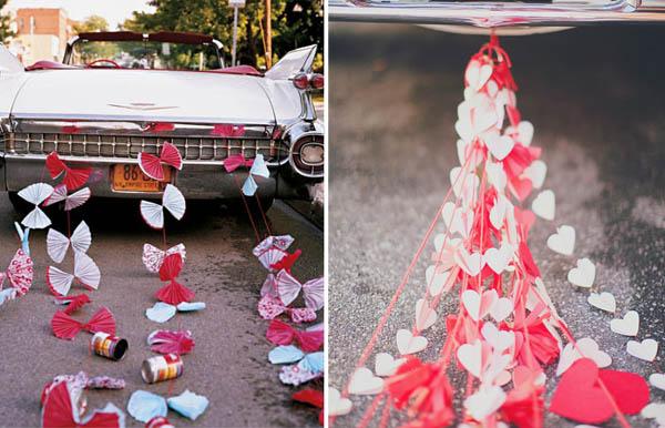 decorazioni auto sposi ghirlande