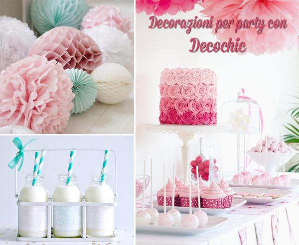 decorazioni per party con decochic