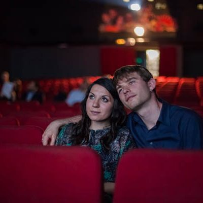 Un engagement shoot al cinema: Deborah e Francesco