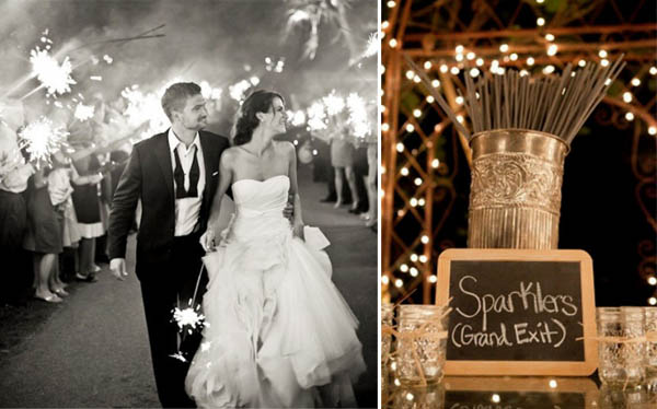 luci matrimonio candeline scintillanti