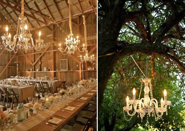 luci matrimonio chandelier