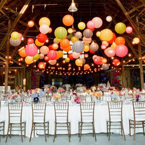 luci matrimonio lanterne di carta