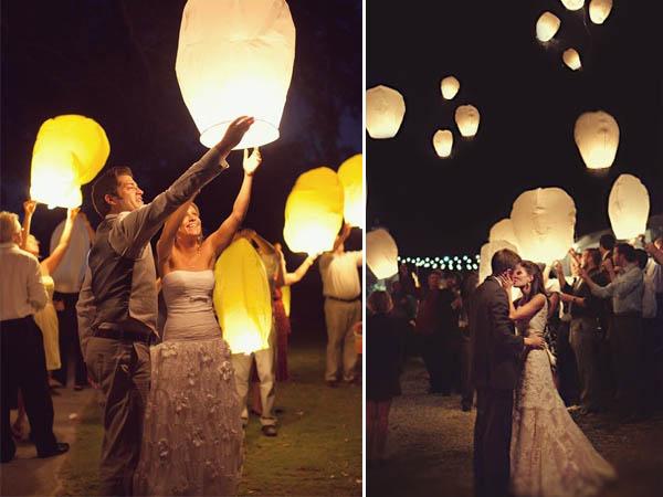 luci matrimonio lanterne volanti