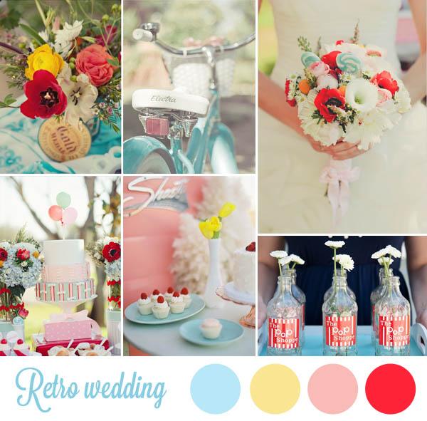 retro wedding inspiration board