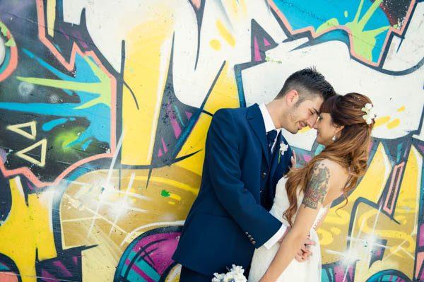 Murales e una sposa tatuata: Francesca e Massimiliano