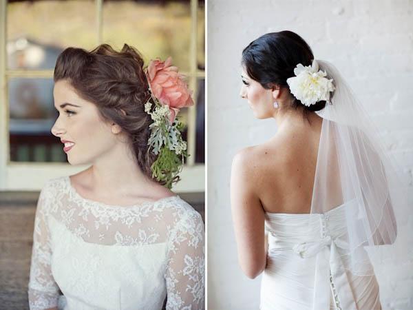 acconciature fiori sposa fiore singolo