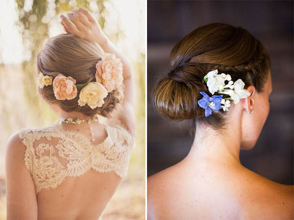 acconciature fiori sposa raccolti