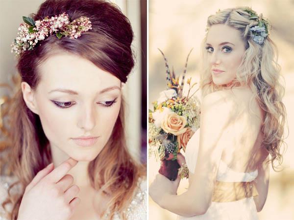 acconciature fiori sposa semiraccolti