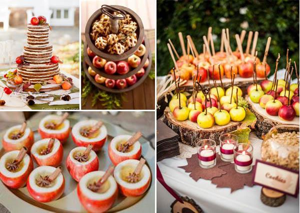 decorazioni tema mele dessert