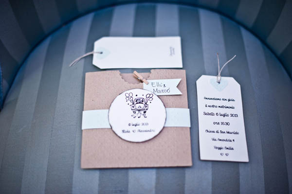 Partecipazioni Matrimonio Country Chic : Un matrimonio country e handmade