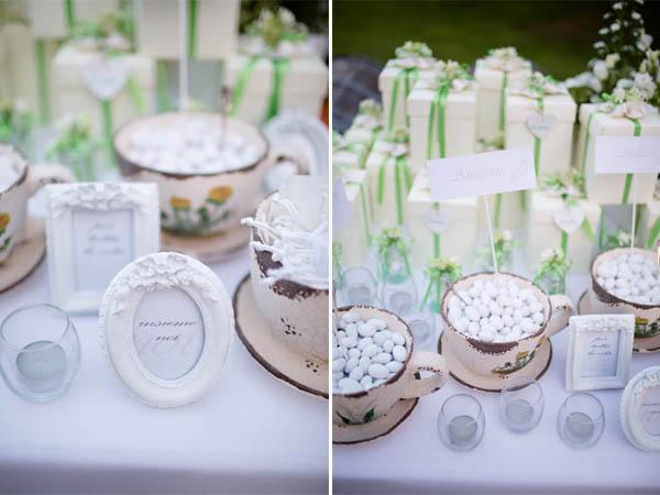 Matrimonio Shabby Chic Vintage : Matrimonio shabby chic bianco e verde