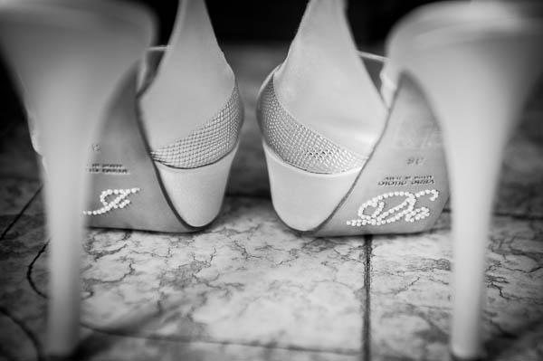 scarpe da sposa con adesivo i do